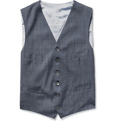 Richard James Blue Wool and Silk-Blend Waistcoat