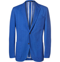 Richard James Blue Polka-Dot Cotton-Seersucker Blazer