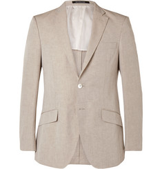 Richard James - Stone Slim-Fit Linen and Cotton-Blend Blazer