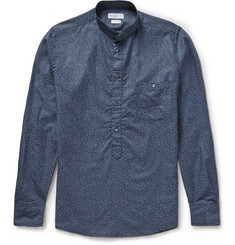 Richard James Slim-Fit Grandad-Collar Printed Cotton Shirt