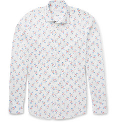 Richard James Slim-Fit Parrot-Print Cotton Shirt