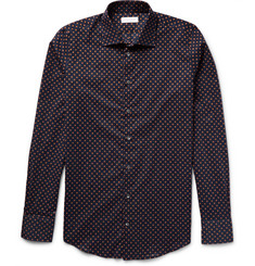 Richard James - Slim-Fit Polka-Dot Cotton-Poplin Shirt
