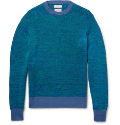 Richard James Birdseye-Knit Linen and Cotton-Blend Sweater