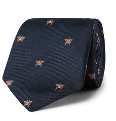 Richard James - Butterfly-Embroidered Silk-Twill Tie