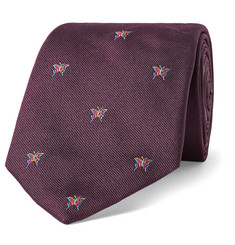 Richard James Butterfly-Embroidered Silk-Twill Tie