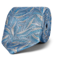 Richard James - Leaf-Jacquard Silk Tie