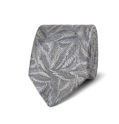 Richard James Leaf-Patterned Silk-Jacquard Tie