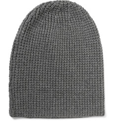 Beams Plus Waffle-Knit Cotton-Blend Beanie