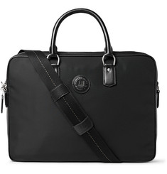 Dunhill Leather-Trimmed Nylon Briefcase