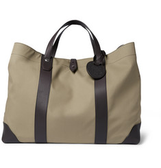 Dunhill Kempton Leather and Canvas Tote Bag