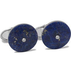 Dunhill Rhodium-Plated Lapis Cufflinks
