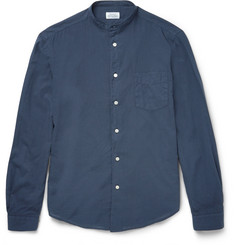 Hartford Slim-Fit Grandad-Collar Cotton Shirt