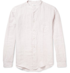 Hartford - Grandad-Collar Linen Shirt