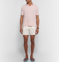 Hartford Garment-Dyed Cotton-Jersey Polo Shirt