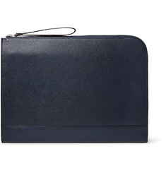 Valextra - Pebble-Grain Leather Portfolio