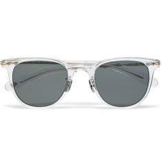 Eyevan 7285 Square-Frame Acetate and Metal Sunglasses
