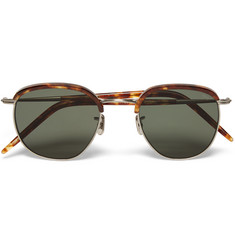 Eyevan 7285 - Square-Frame Tortoiseshell Acetate and Metal Sunglasses
