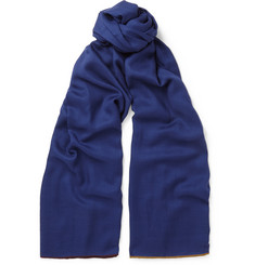 Loro Piana Contrast-Trimmed Cashmere and Silk-Blend Scarf