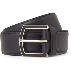 Loro Piana - 4cm Midnight-Blue Leather Belt