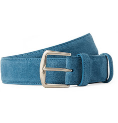 Loro Piana - 3.5cm Light-Blue Suede Belt