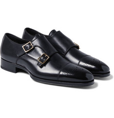 Tom Ford - Austin Polished-Leather Monk Strap Brogues