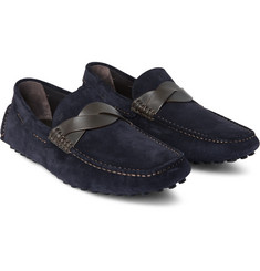 Tom Ford - Samuel Leather-Trimmed Suede Driving Shoes