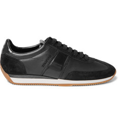 Tom Ford Leather and Suede Sneakers