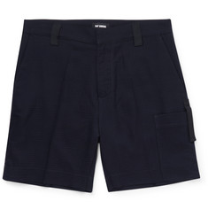 Raf Simons Stretch Cotton and Wool-Blend Jacquard Shorts