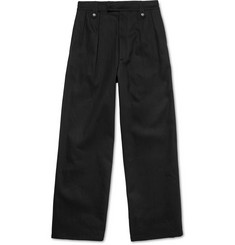 Raf Simons Wide-Leg Cotton-Blend Trousers