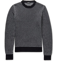 Raf Simons Birdseye Cotton-Blend Sweater