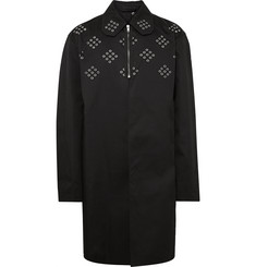 Raf Simons Grommeted Coated Cotton-Twill Trench Coat