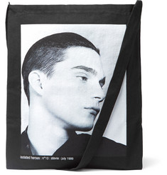 Raf Simons Isolated Heroes Printed Cotton Tote Bag