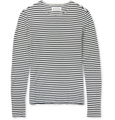 Maison Margiela Striped Waffle-Knit Cotton T-Shirt