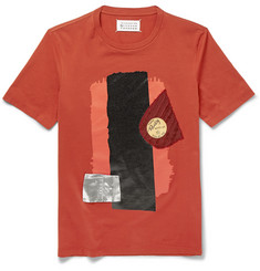 Maison Margiela Slim-Fit Patchwork-Appliquéd Cotton-Jersey T-Shirt