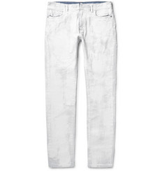 Maison Margiela Slim-Fit Coated-Gauze and Denim Jeans