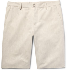 Maison Margiela Wide-Leg Cotton and Linen-Blend Twill Chino Shorts