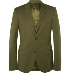 Calvin Klein Collection - Olive-Green Slim-Fit Cotton-Twill Blazer