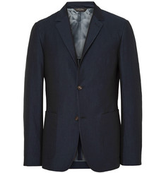 Calvin Klein Collection - Navy Thompson Slim-Fit Cotton and Silk-Blend Blazer