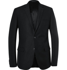 Calvin Klein Collection - Black Crosby Slim-Fit Wool, Cotton and Linen-Blend Blazer