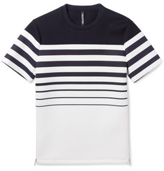 Neil Barrett Striped Bonded-Jersey T-Shirt
