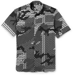 Neil Barrett - Slim-Fit Printed Stretch-Cotton Shirt