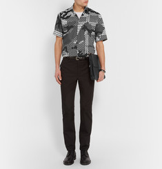 Neil Barrett Slim-Fit Printed Stretch-Cotton Shirt