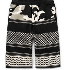 Neil Barrett Patterned Jacquard-Knit Shorts