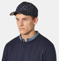 Neil Barrett - Leopard-Print Denim Baseball Cap