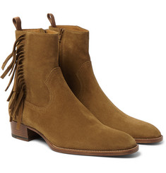 Saint Laurent - Fringed Suede Boots