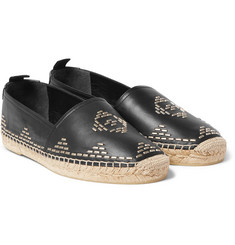 Saint Laurent - Studded Leather Espadrilles