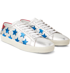Saint Laurent - Signature California Appliquéd Metallic Leather Sneakers
