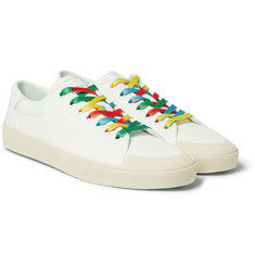 Saint Laurent - Leather-Trimmed Canvas Sneakers
