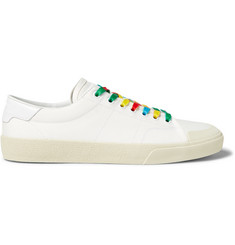 Saint Laurent Leather-Trimmed Canvas Sneakers