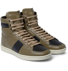 Saint Laurent - Leather High-Top Sneakers